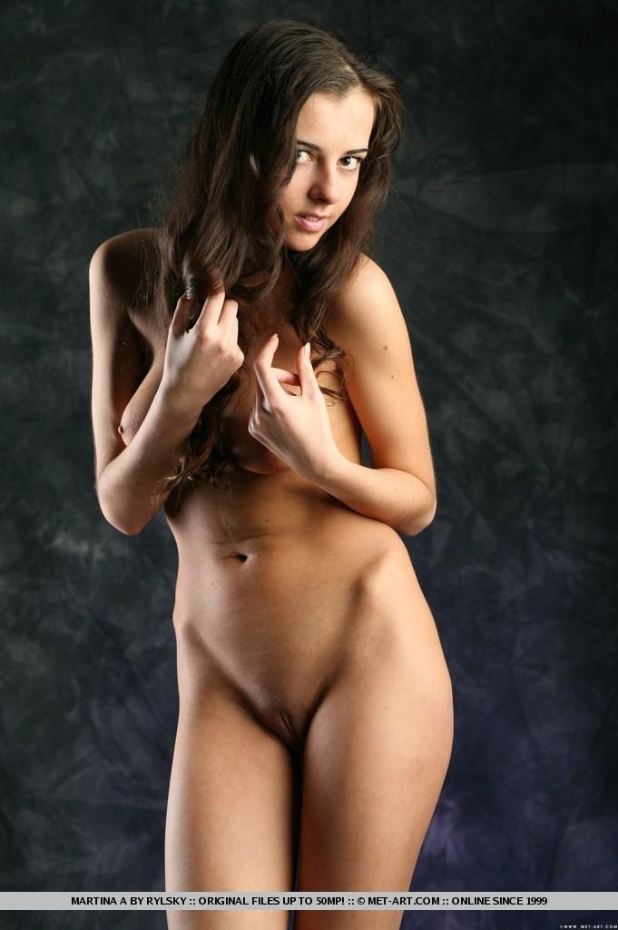 met art brunette Tight