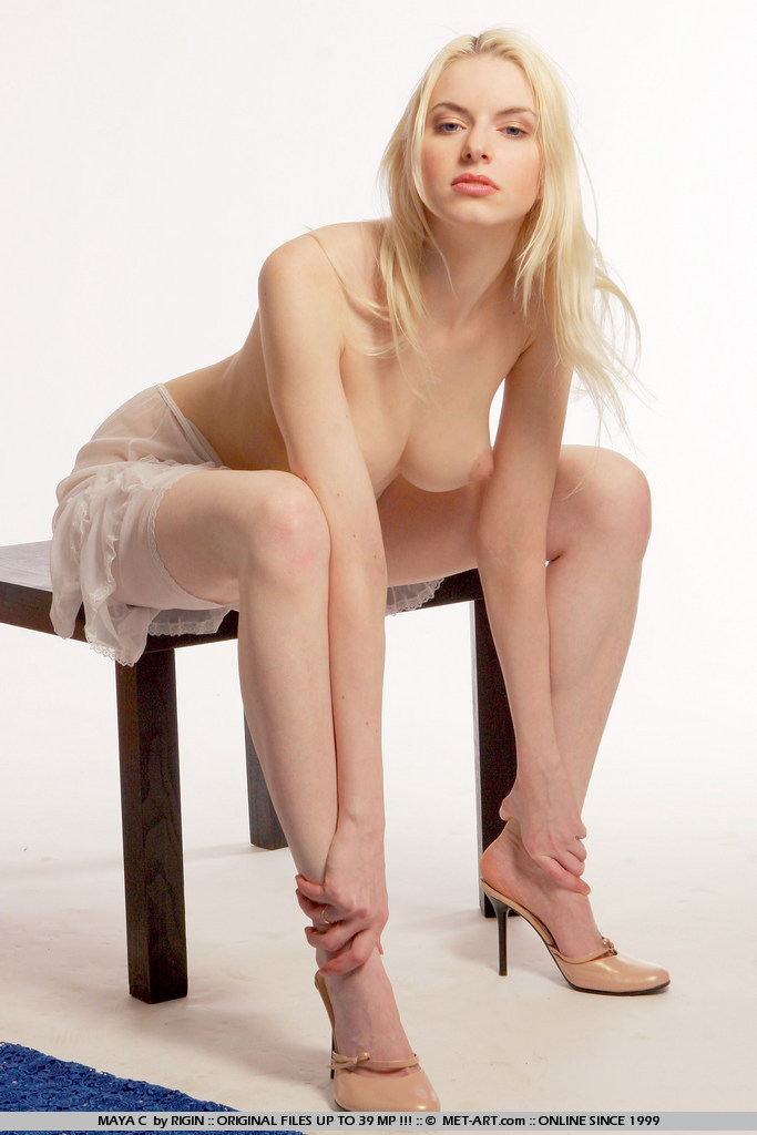Big tits blonde art