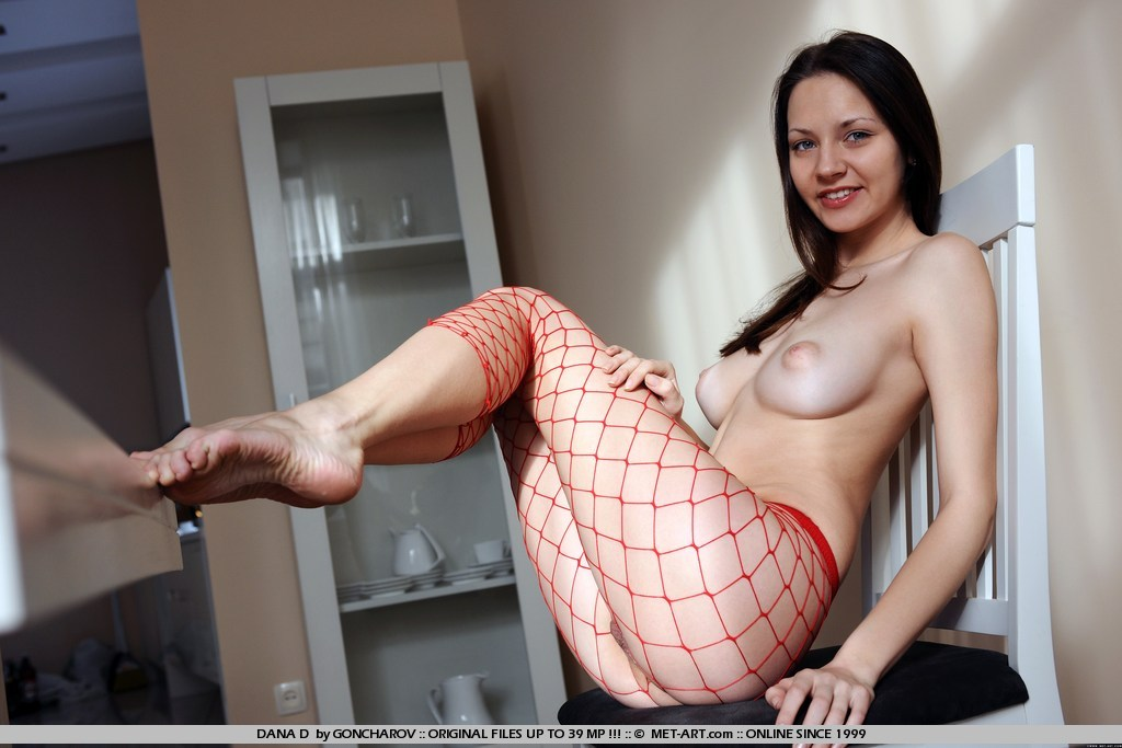 stockings brunette art Met